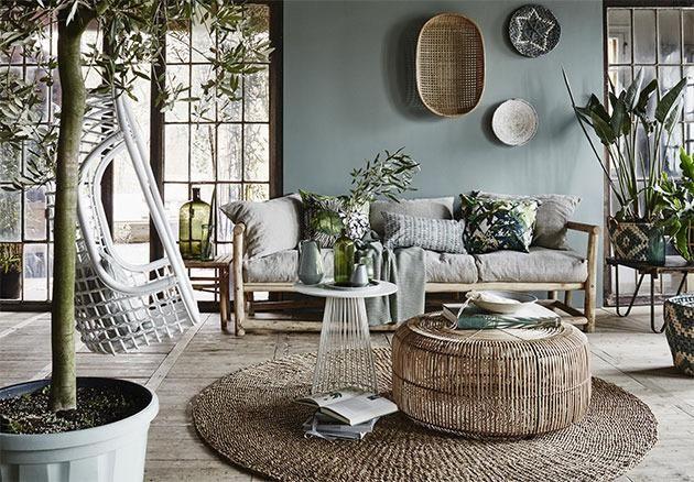 Hangstoel rotan wit hk living nuanciers interiors