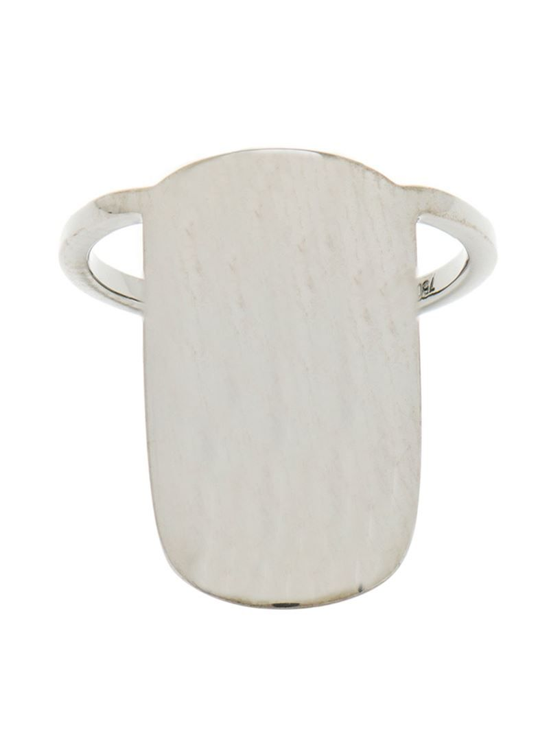 ASHERALI KNOPFER 18K Gold Nail Ring - on Vein - getvein.com