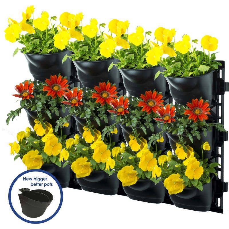 Maze Vertical Garden Kit Wall Planter with 12 Pots   Garden wall ...