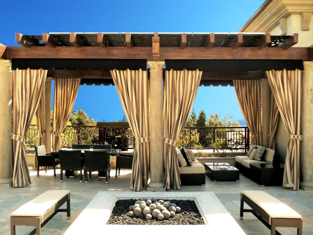Pergola Curtains, Outdoor Curtains For Patio, Outdoor Privacy, Outdoor  Pergola, Pergola Ideas - Pin By Gaynor Simms On Garden Pinterest Outdoor Curtains