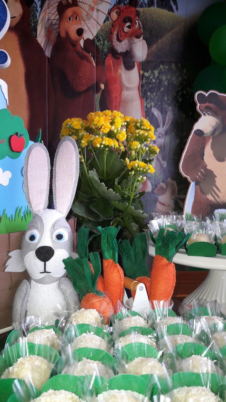 Festa masha e o urso, Marsha e o urso, Decorações de