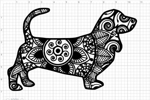Mandala Style Dog Dachshund Svg Pdf Eps Dxf Studio 3 Cut Free
