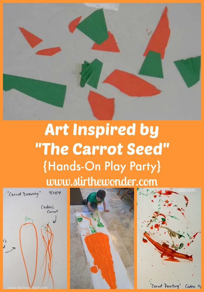 Art Inspired By The Carrot Seed With Images The Carrot Seed
