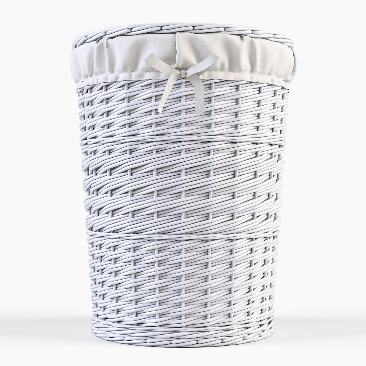 Wicker Laundry Basket 03 Set 3 Color Vertices Polygons Cm Height