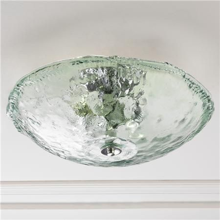 Bathroom Ceiling Lights Flush recycled bottle glass bowl ceiling light | faves - lighting (flush