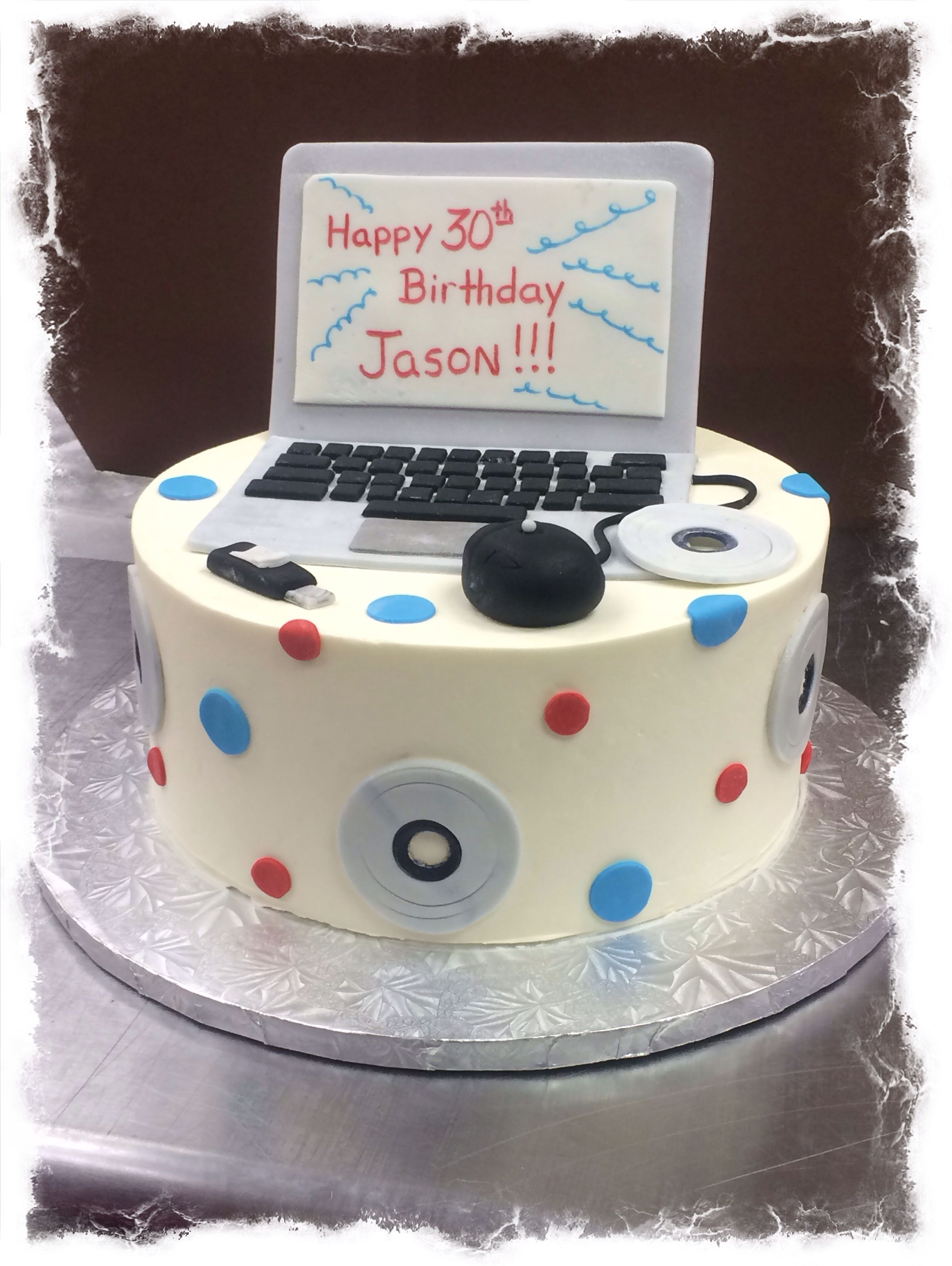 Excellent Computer Birthday Cake Computer Cake Cake Cake Toppings Funny Birthday Cards Online Barepcheapnameinfo
