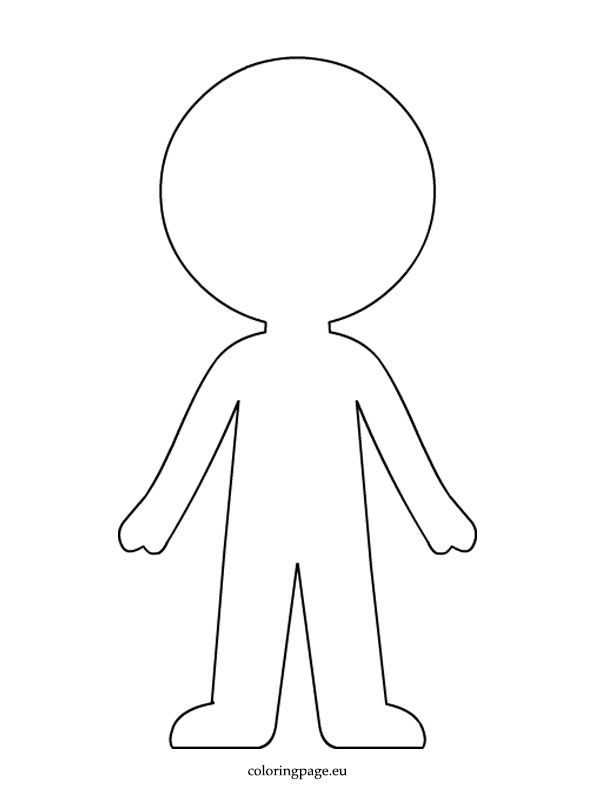 Boy Paper Doll Template Coloring Page | Paper doll ...