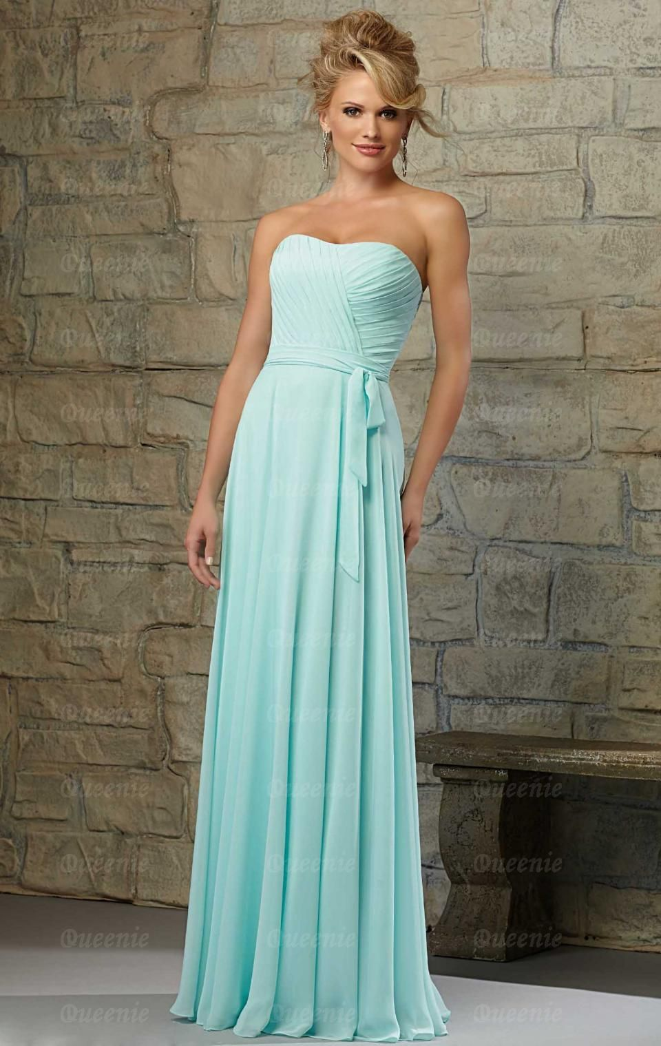 2015 Chiffon Blue Green Bridesmaid Dresses BNNCA0000-Bridesmaid UK ...