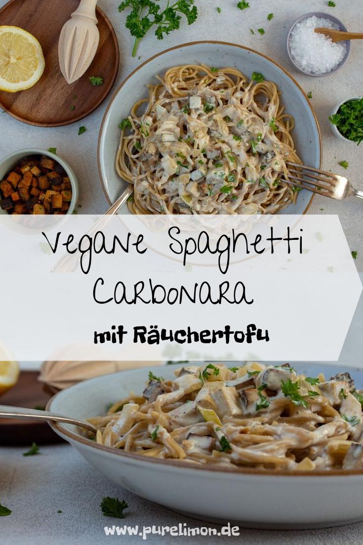 Photo of Vegan spaghetti carbonara – creamy, simple and delicious • purelimon