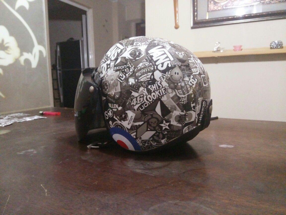Diy Sticker Bombcool Helmet Sticker Bomb Diy