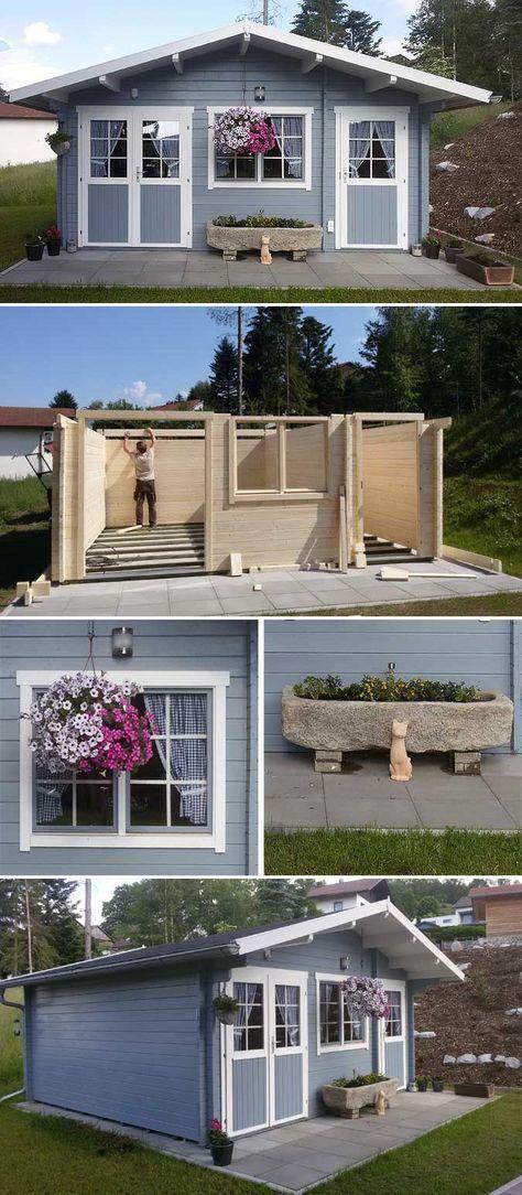 Gartenhaus Nevis 44 ISO: Aufbau und Einrichtung