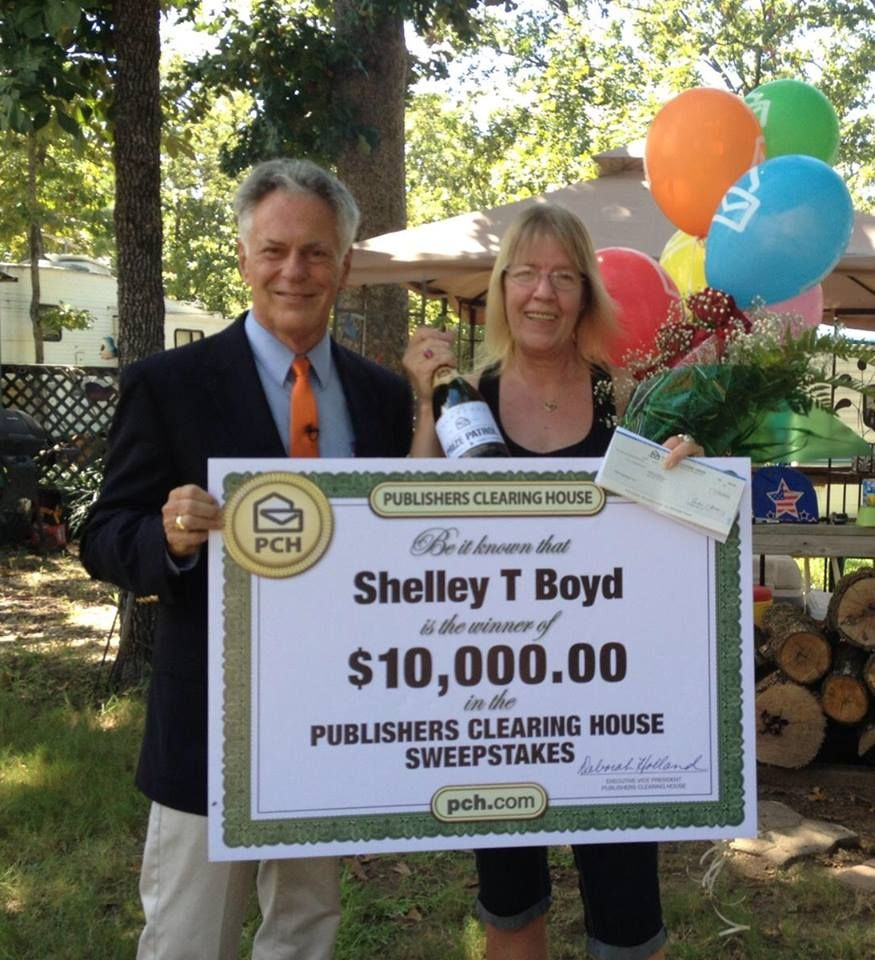 Publishers Clearing House Winners: Shelley Boyd from Red Oak, Texas