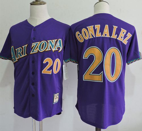 b50dab1df13 ... discount code for mitchell and ness diamondbacks 20 luis gonzalez  purple throwback stitched mlb jersey 259a5