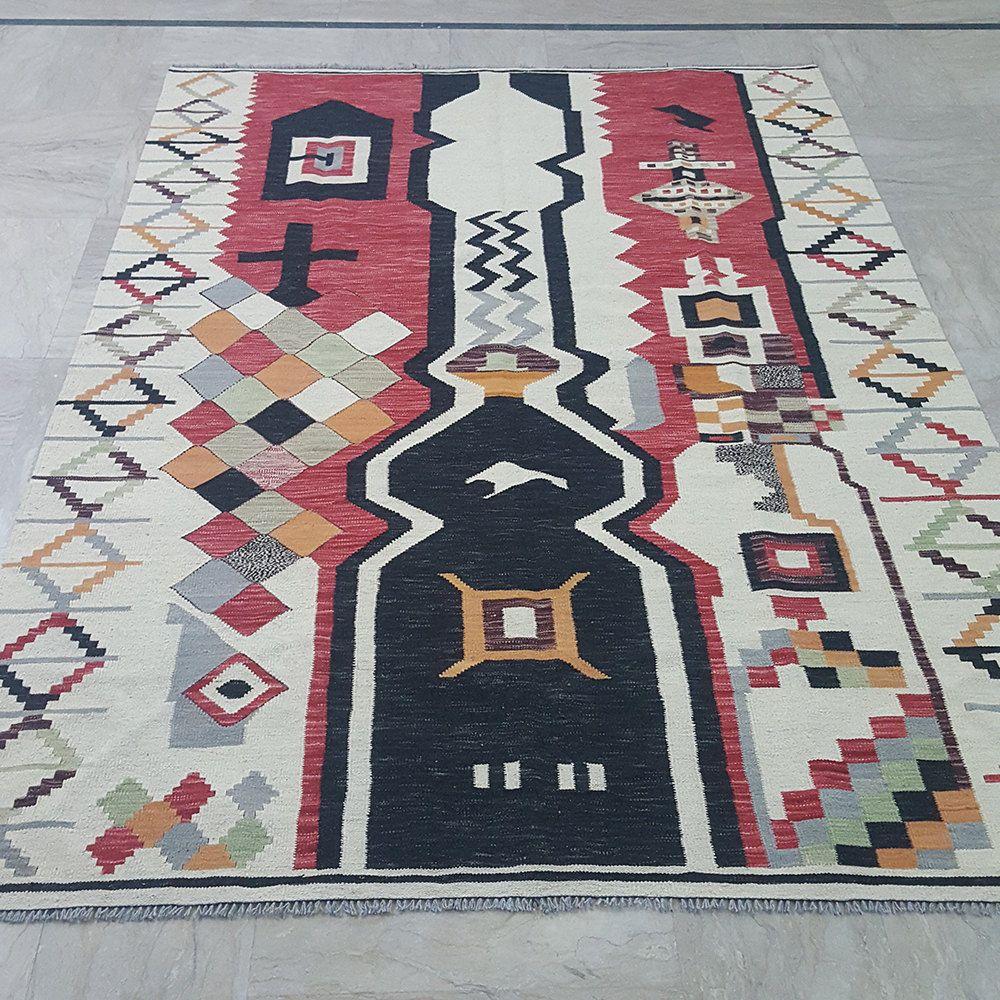 6x9 Kilim Rug Modern Kilim Rug Contemporary Kilim Rug Handmade