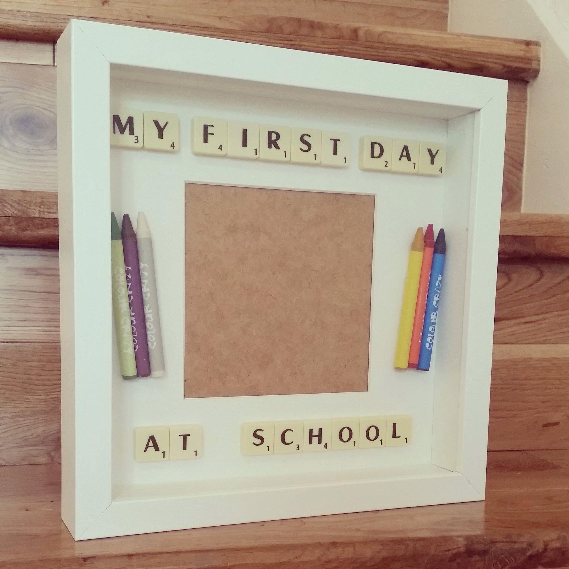 Picture frame | Scrapbook | Pinterest | Primer día de clase, Papà y ...