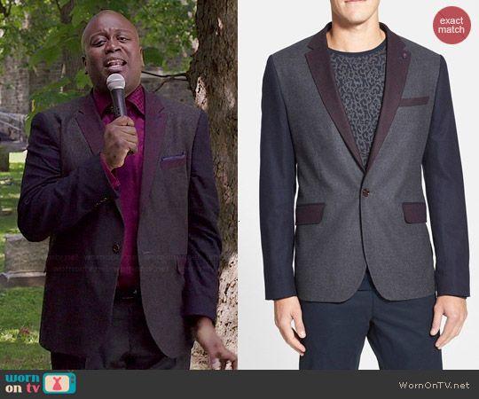 Titus's colorblock suit jacket on Unbreakable Kimmy Schmidt.  Outfit Details: http://wornontv.net/46534/ #UnbreakableKimmySchmidt