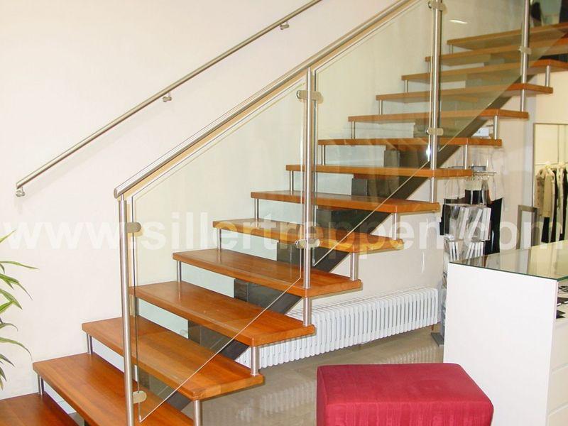 Offene Treppen freitragende offene treppe aus edelstahl und holz linie by