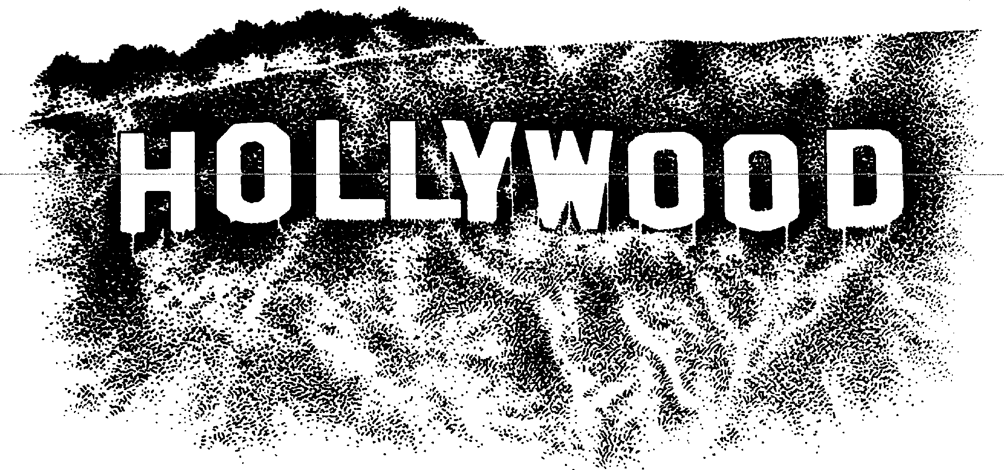 hollywood sign clipart google search merrily we roll along rh pinterest com Hollywood Sign Outline Hollywood Walk of Fame