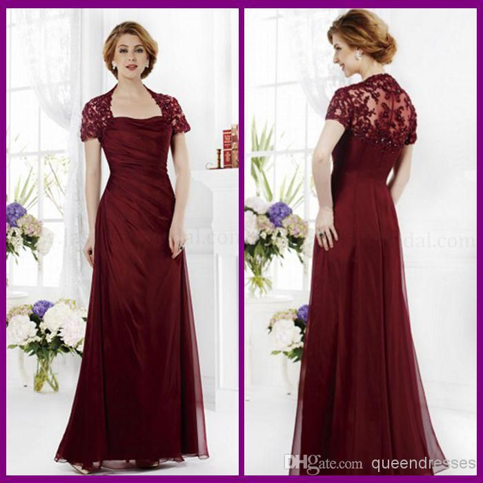 Wholesale Mother of the Bride Dresses - Buy New Fashion Burgundy ...