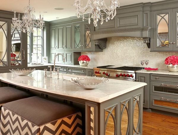 Decorating with 20 Mirrored Furniture in the Kitchen | Home Design Lover