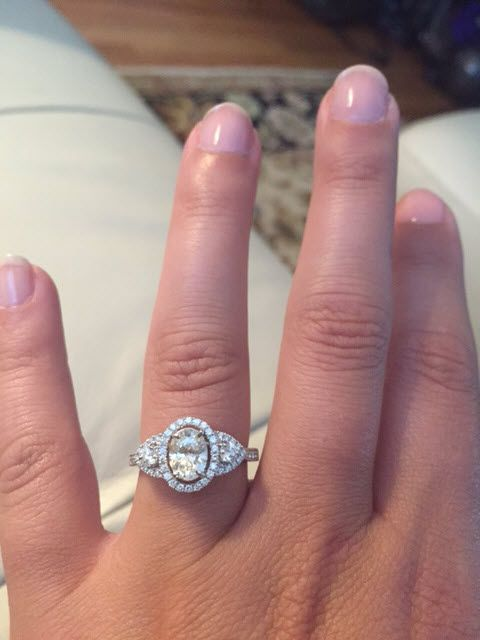 325694dae6fa21 3 stone oval engagement rings? - Weddingbee | Rings! Round, Oval ...