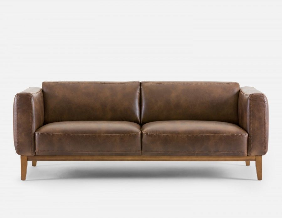 MAUI - 3-seater Sofa - Brown