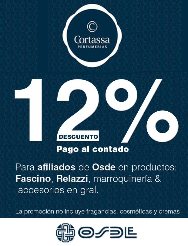 Desde ahora los afiliados a OSDE tienen 12 % de descuento en nuestra perfumería.