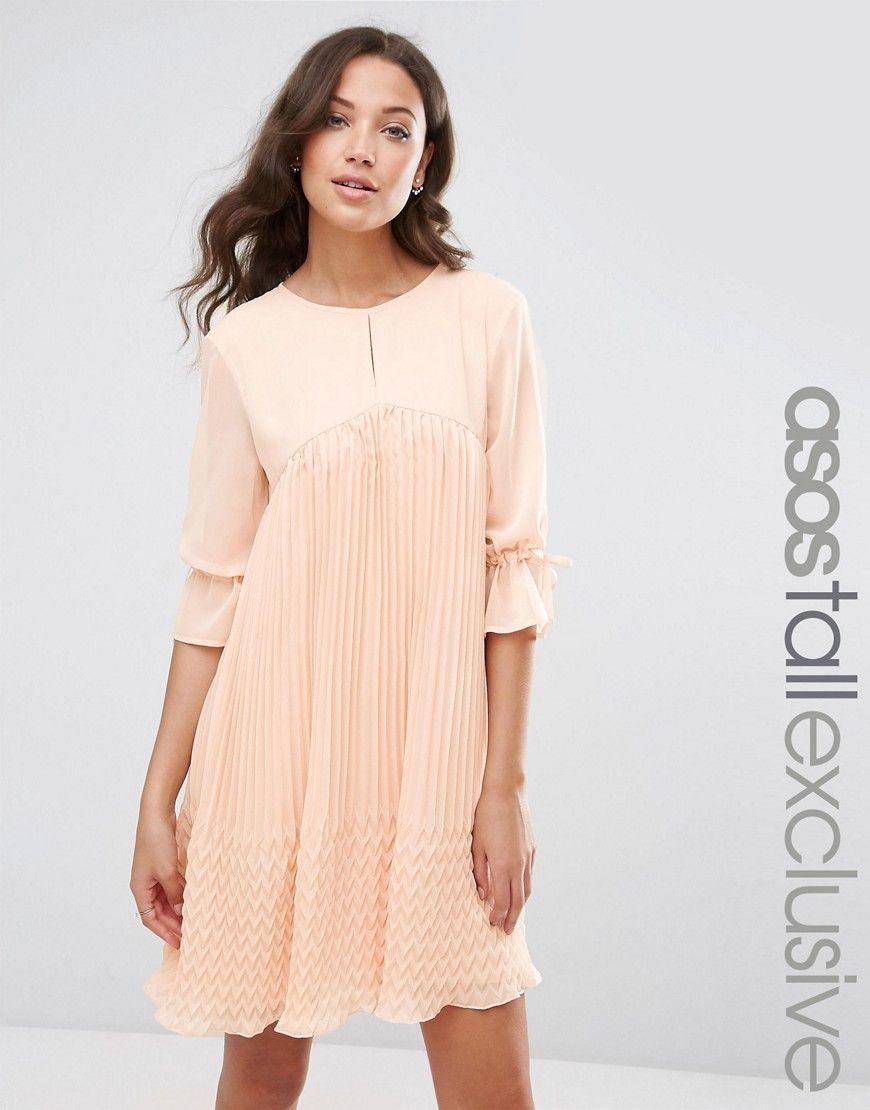 2db1b21dd43bd ASOS+TALL+Pleated+Swing+Dress | Dresses I like | Swing dress ...