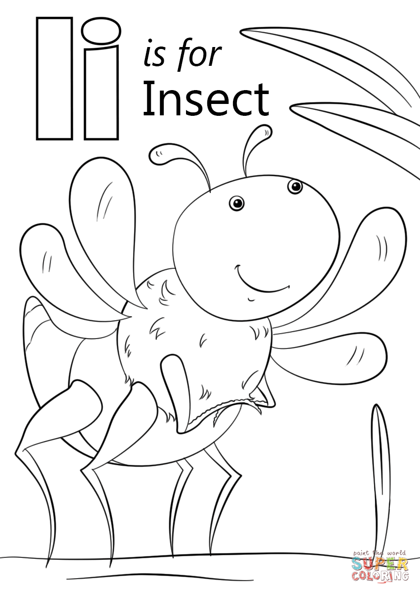 Letter I Is For Insect Coloring Page Free Printable Coloring Pages In 2021 Insect Coloring Pages Abc Coloring Pages Alphabet Coloring Pages [ 1200 x 849 Pixel ]