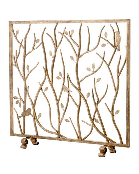 bird and branch fireplace screen fireplaces pinterest