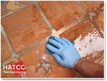 cleaning saltillo tiles with alkaline cleaner | home decor