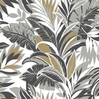 Joana Removable Tropical Palm Leaves 7 92 L X 150 W Peel And Stick Wallpaper Roll York Wallpaper Palm Wallpaper Botanical Wallpaper