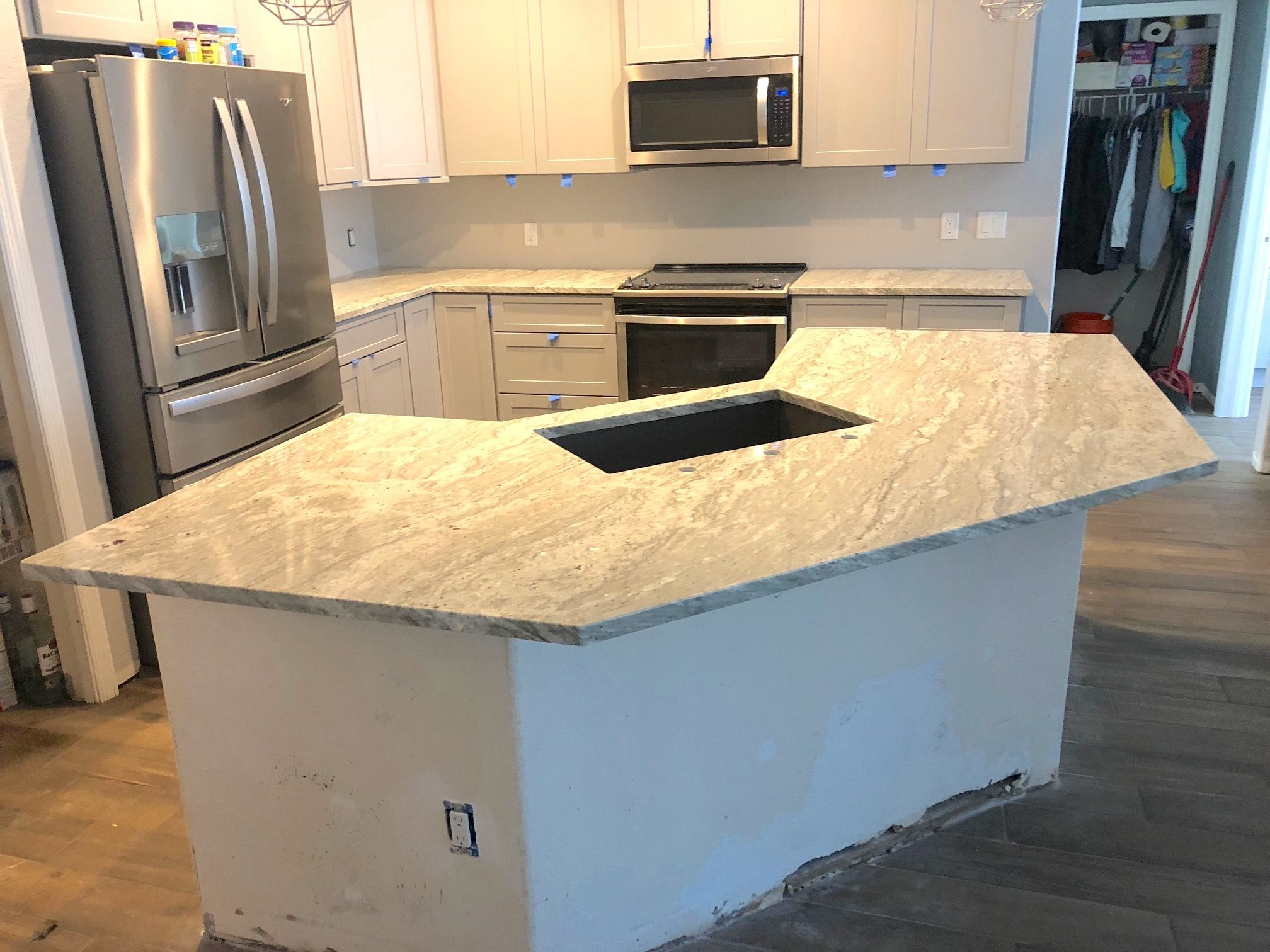 Awesome Kitchen Island Countertop Made By Magnificent River
