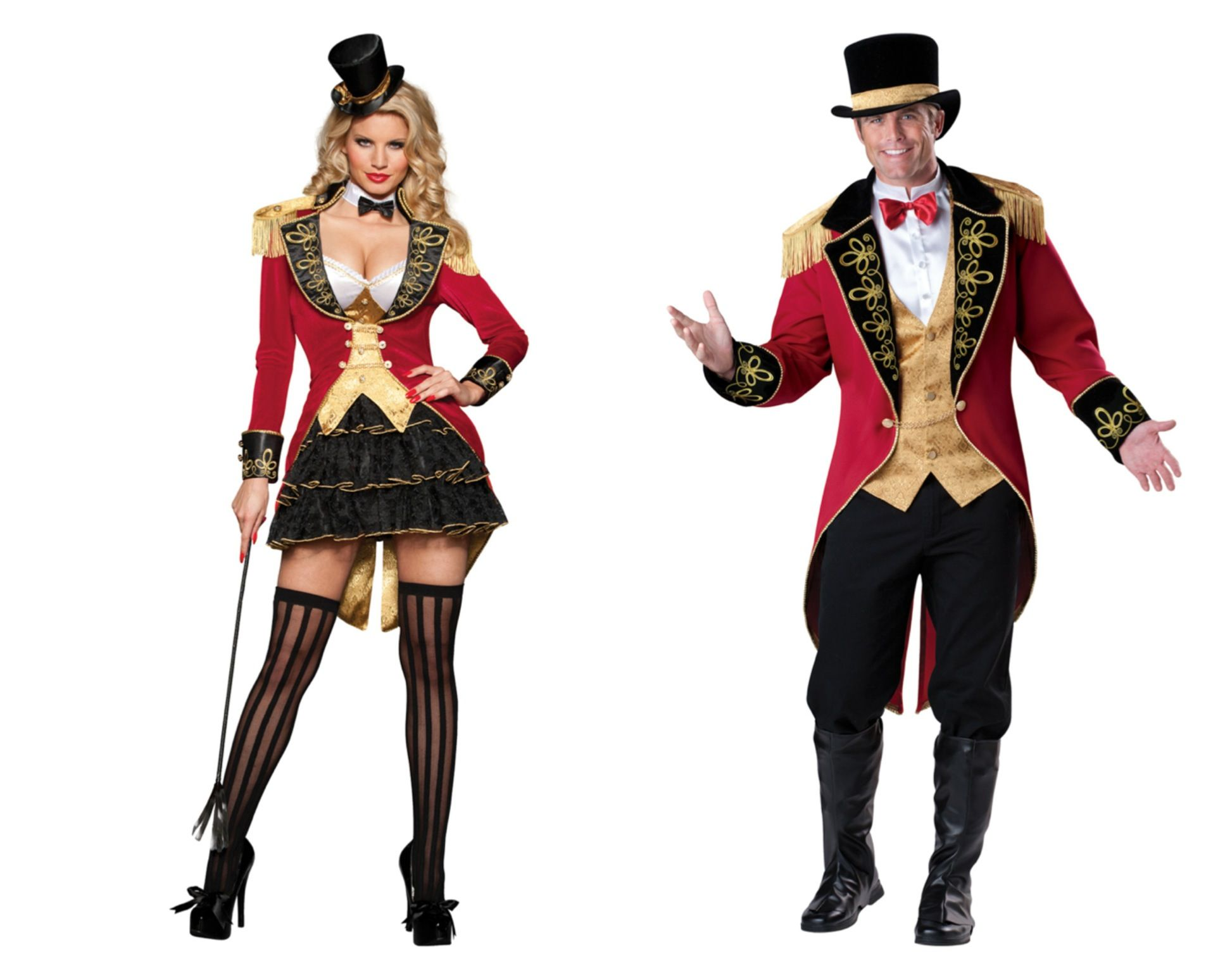 His And Hers Ringleader Costumes For Couples Other Ideas Lion Tiger Gymnast Elephant Clown Disfraces Disfracez Modelos