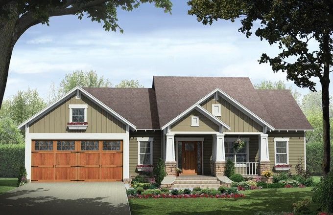 1 Story Traditional House Plan Hansley Craftsman House Plans House Plans Traditional House Plans