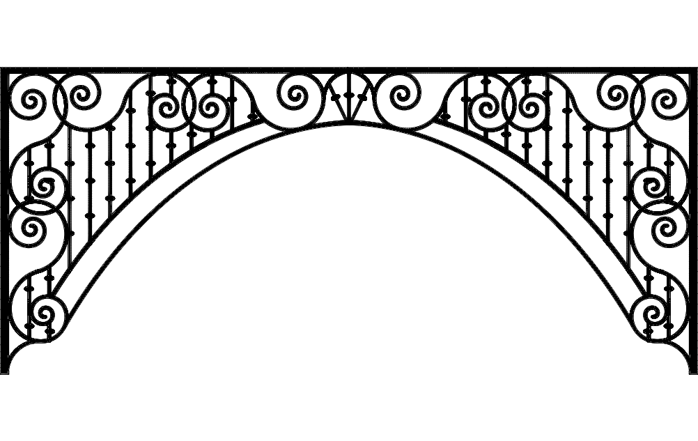 Ironwork Arch Free Dxf File For Free Download Vectors Art In 2020 Dxf Files Dxf Vector Art