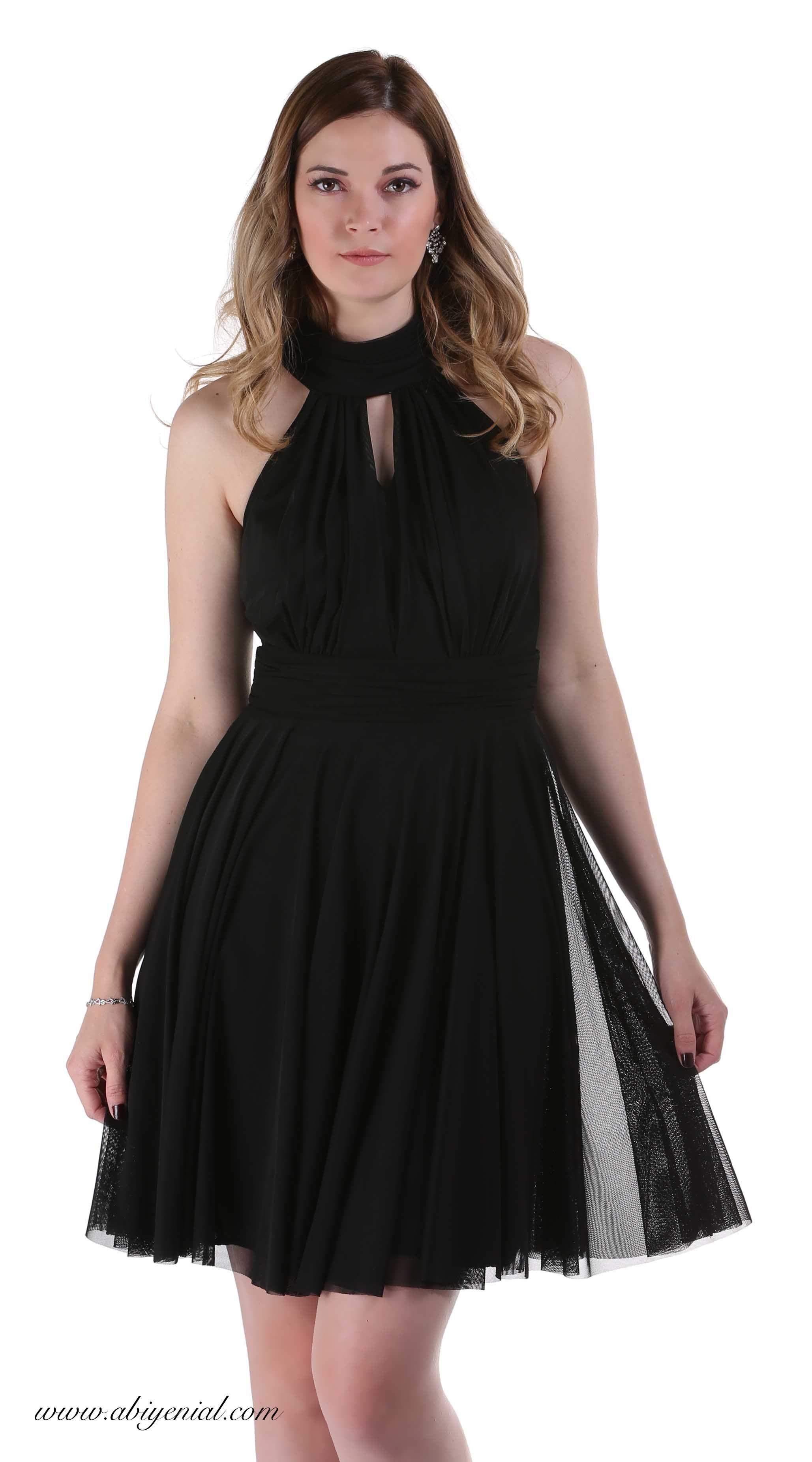 Siyah Kisa Tul Abiye Elbise Stefanel Yaka Tul Siyah Stefanelyaka Sade Kisa Abiye Sozelbisesi Black Dresses Elbise Mini Elbiseler Siyah Kisa Elbise