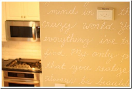 song lyrics painted on walls - Google Search | Master | Pinterest ...