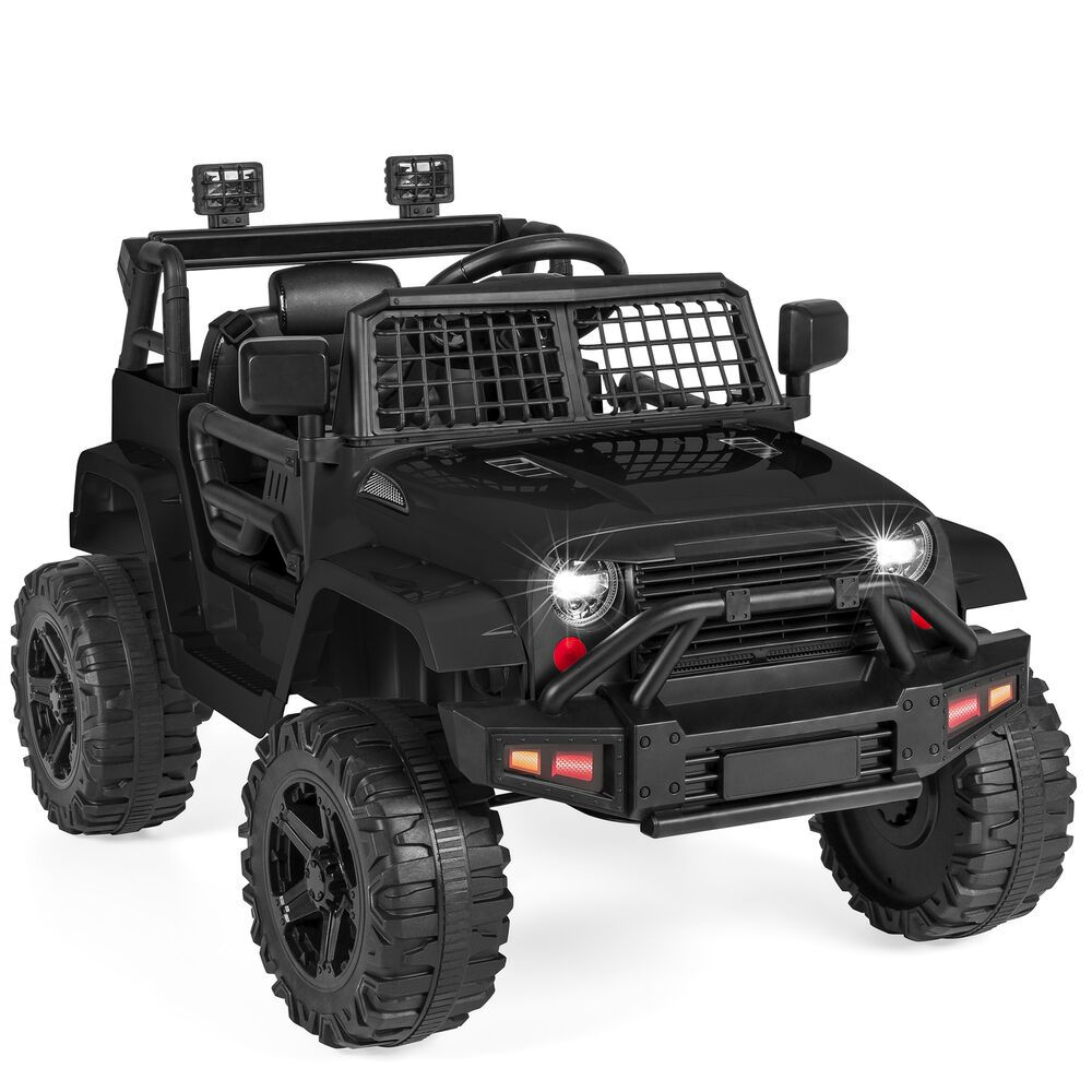 Kids Ride On Wild Jeep Battery Power Car 12v Electric Truck Rc Aux In Toy Black Unbranded In 2020 Kids Ride On Remote Control Cars Ride On Toys