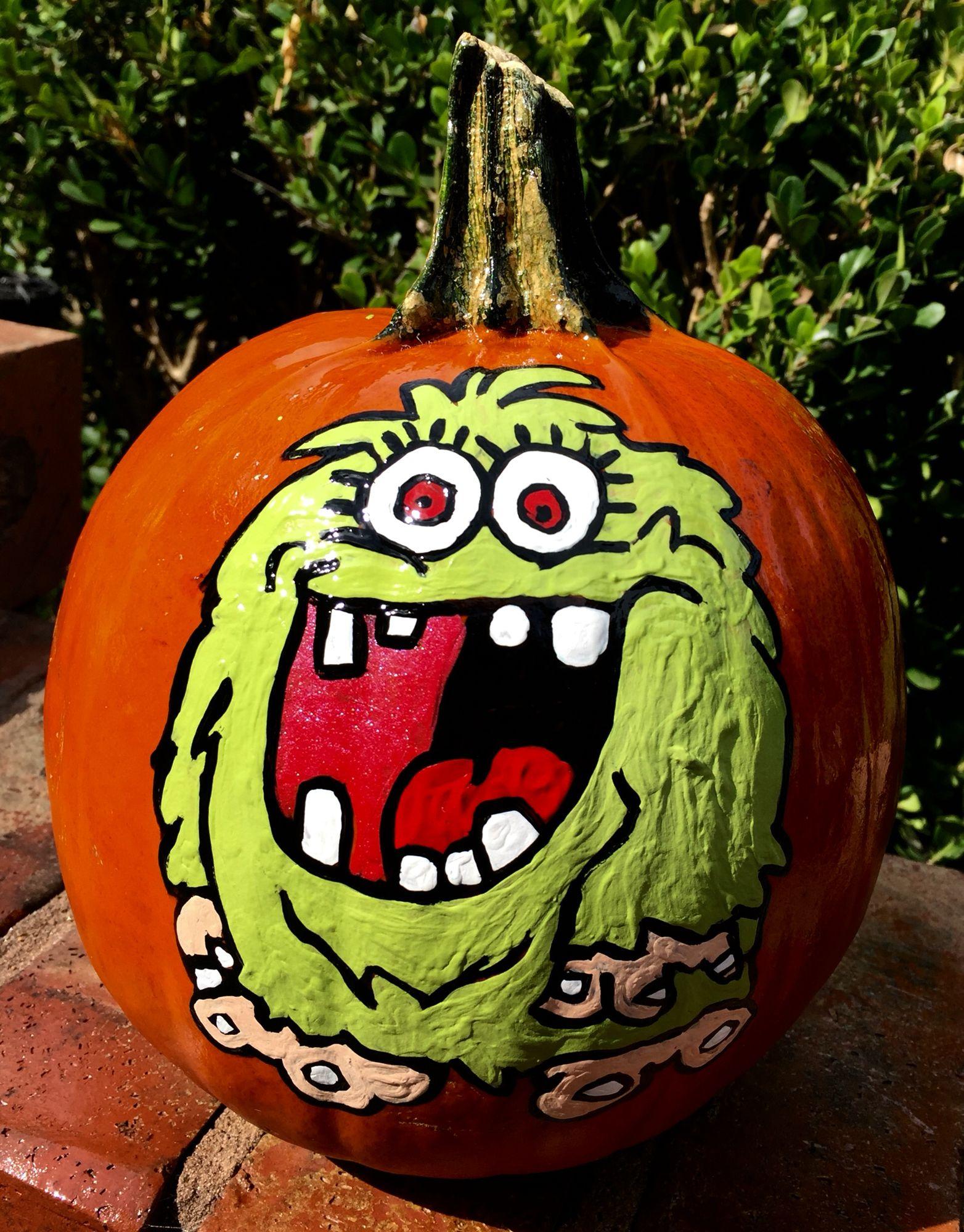Monster Hand painted pumpkin, Painted pumpkins, Fall