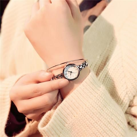 0355cbf1cc37 Luxury fashion gold bracelet watch full stainless steel women quartz  watches 2018 simple small ladies wristwatches female clock From Touchy  Style Outfit ...
