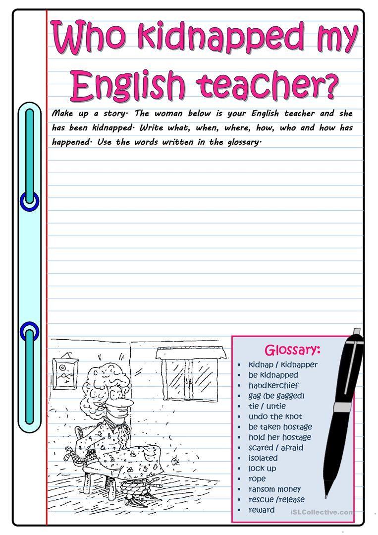Kidnapped Fun Writing Activities Teaching Writing Cool