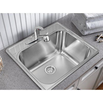Blanco 25 X 22 Drop In Laundry Sink Faucet Mount 4 Centre