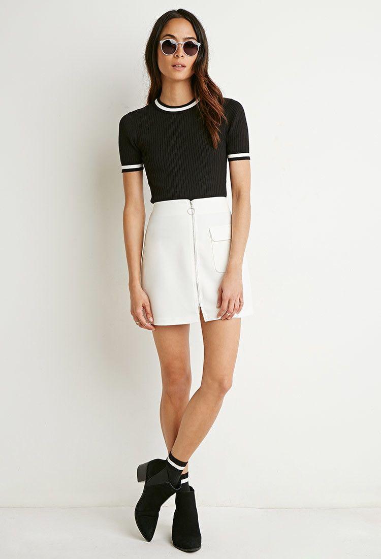 5bd4f21ff Falda Con Cierre En Frente | skirts | Faldas, Ropa y Mini faldas