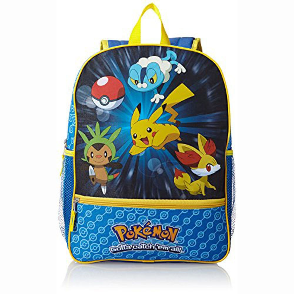 2df9f72ae210  14.05 - Pokemon Catch  Em All Kids Boys Backpack Book Bag Blue  ebay