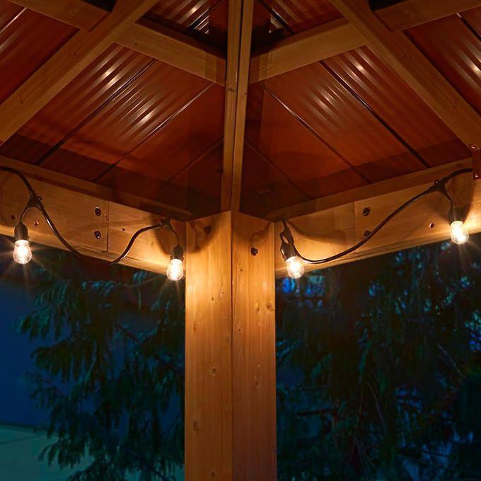 Cedar Wood 12 039 X 12 039 Gazebo With Aluminum Roof By