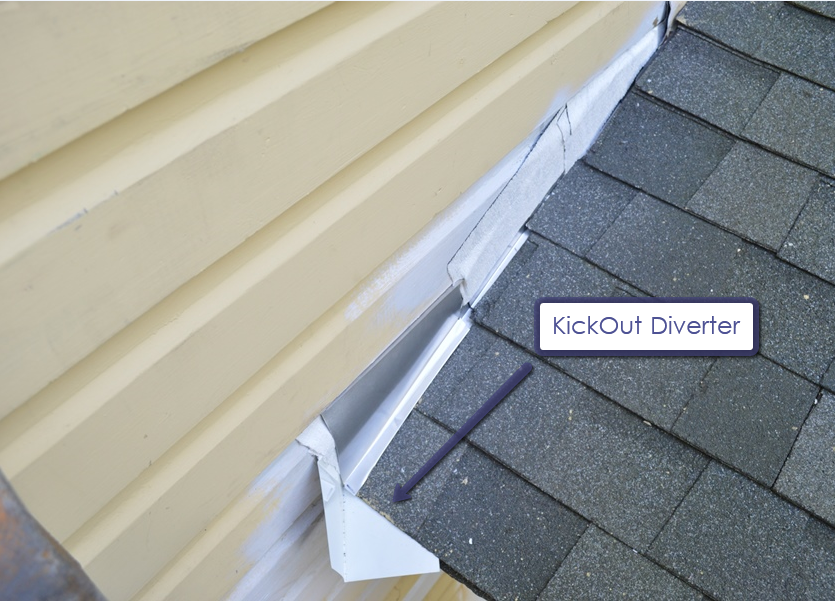 Replacing Roof Flashing At A Sidewall Don T Forget The Kick Out Diverter