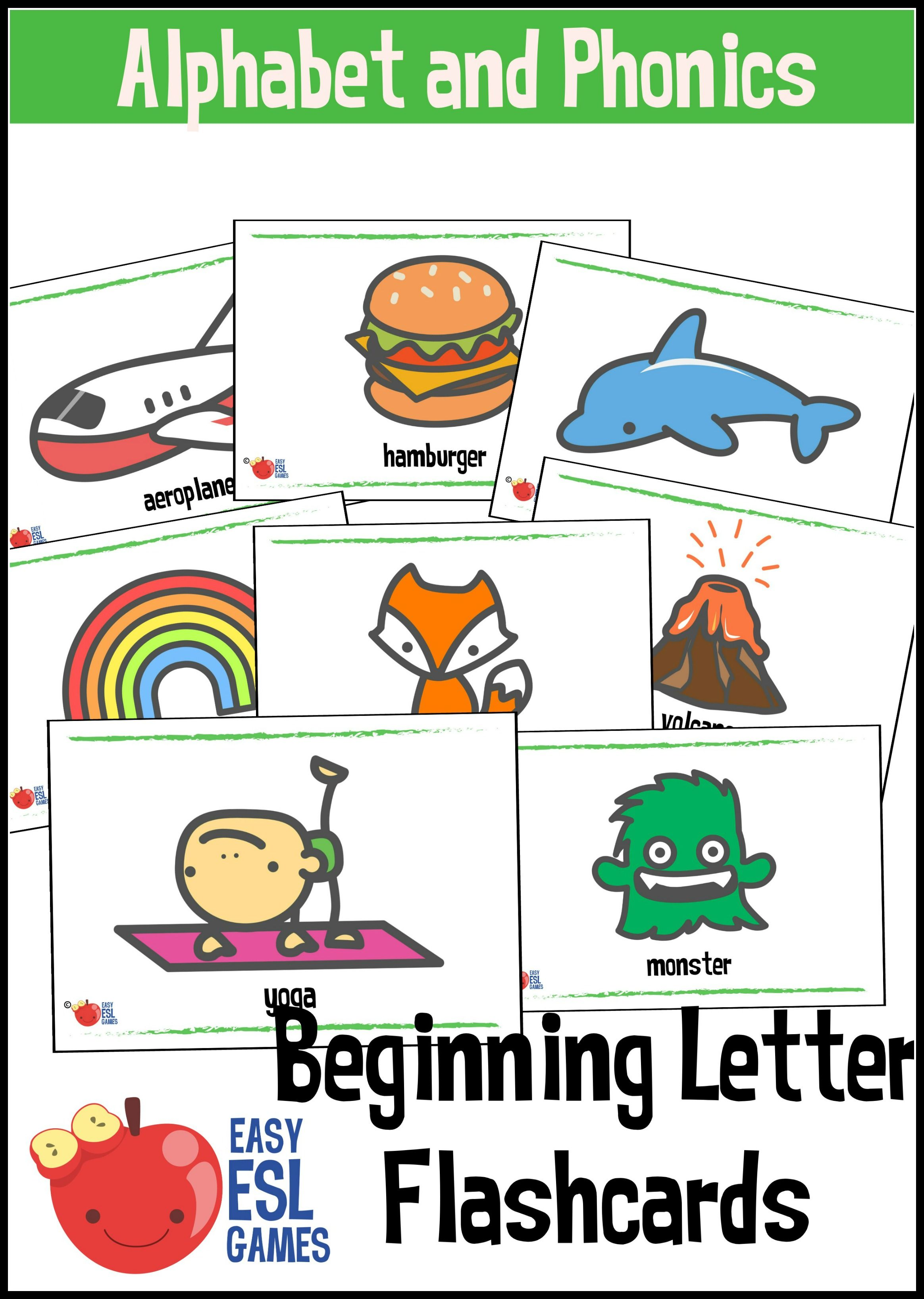 Beginning Sounds Alphabet Flash Cards
