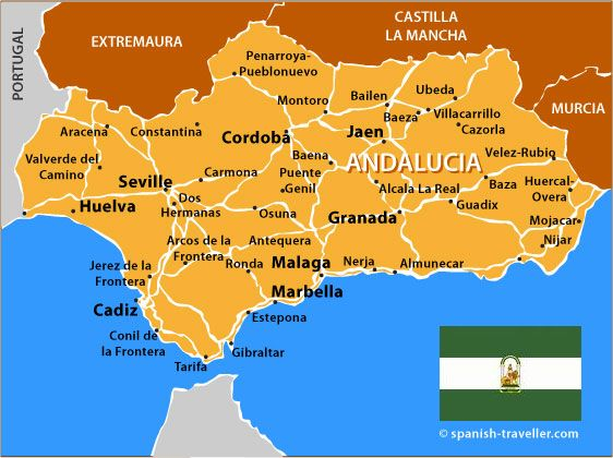 Andalucia On Map Of Spain.Map Of Andalucia Spain Andalusia Andalusia Travel Andalusia Spain