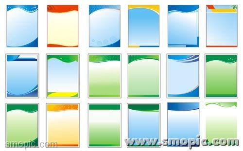 18 simple common vertical panels background coreldraw design